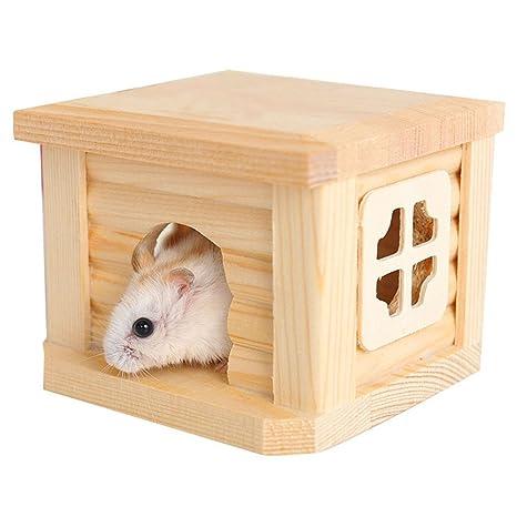 Bwogue - Jaula de hámster para mascotas (madera, hámster pequeño ...