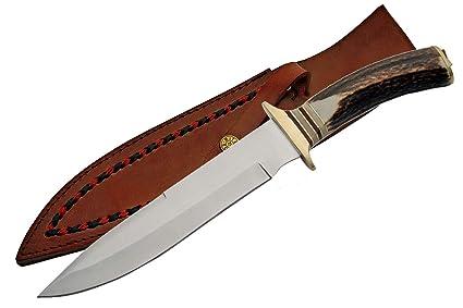 Amazon.com: szco Suministros Frontiersman cuchillo de caza ...