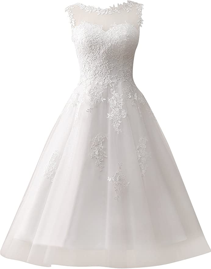 Vintage Short Wedding Gown
