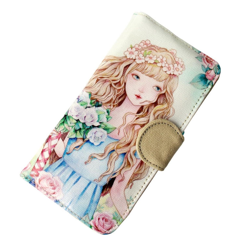 Ms. long wallet/Art canvas wallet tide