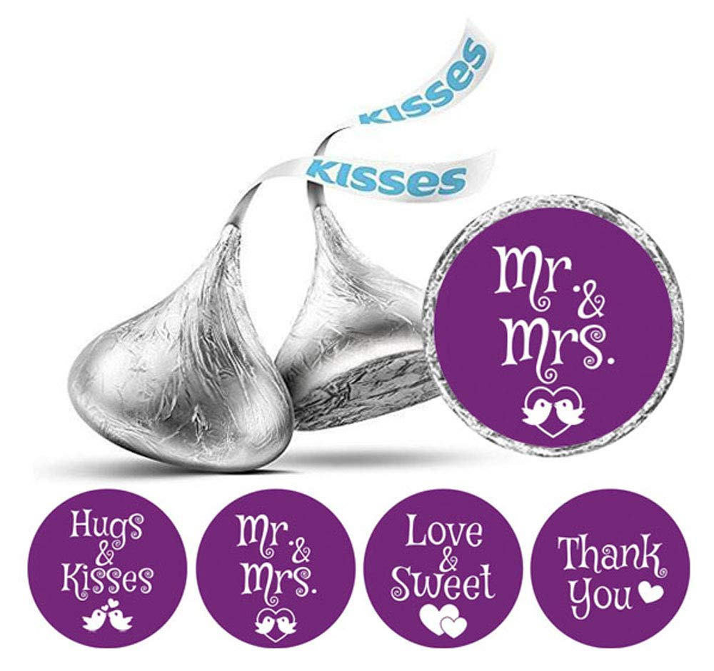 Darling Souvenir Wedding Theme Stickers Hersheys Kisses Candy Labels 190 Pcs Party Favor-Black /& Glitter Gold