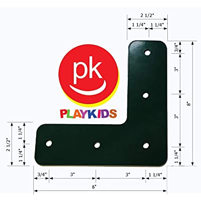 Playkids L Brackets (Two) - 90 Degree: Toys & Games
