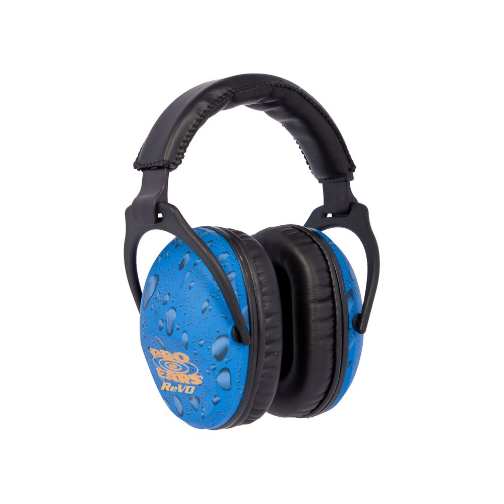 Pro Ears - ReVO - Hearing Protection - NRR 25 - Youth and Women Ear Muffs - Blue Rain