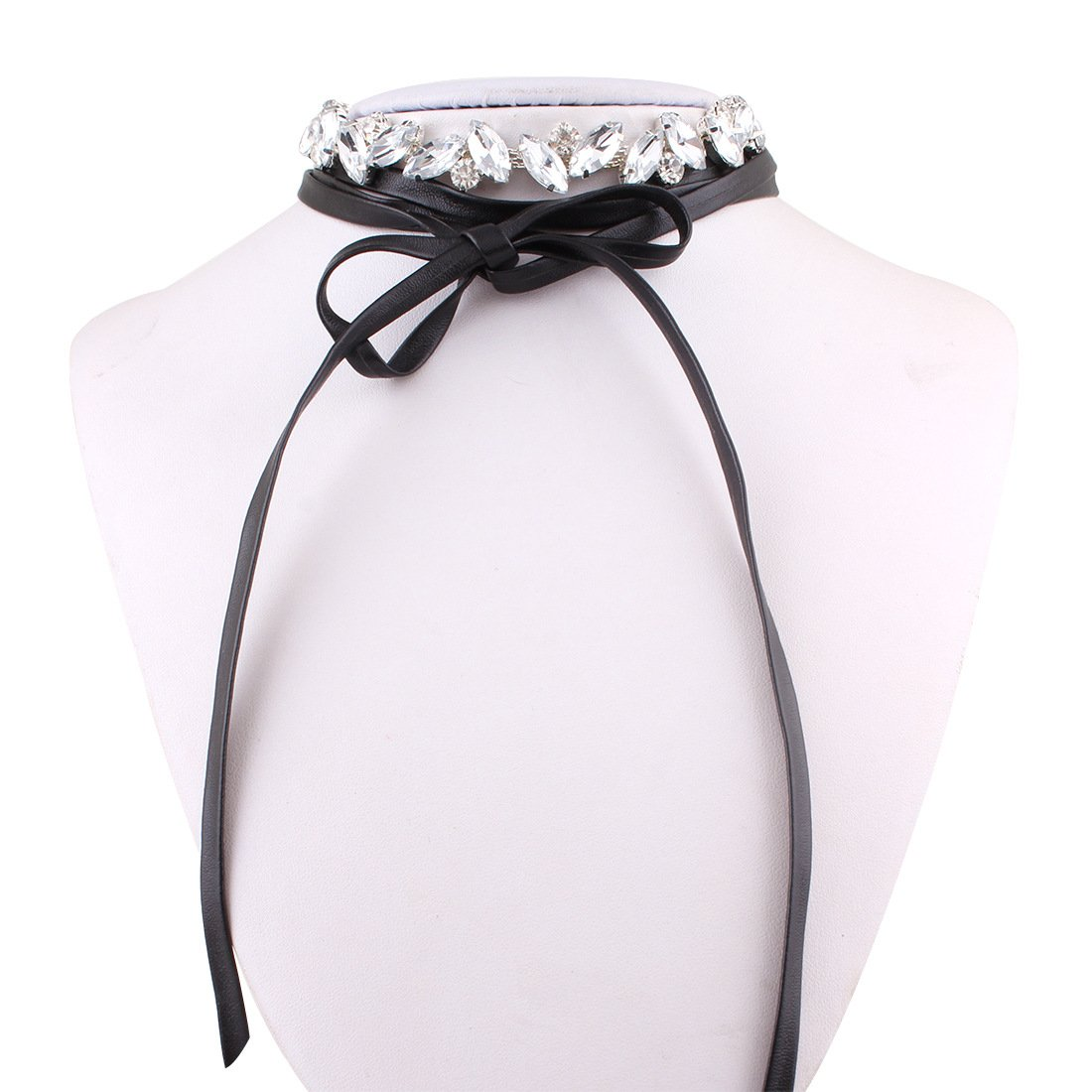 Punk Style Leather Choker Necklace for Women Girls Choker Velvet Necklace Adjustable