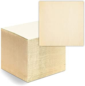 Disposable Bamboo Square Luncheon Napkins (Beige, 6.5 x 6.5 In, 250 Pack)