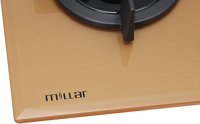 MILLAR GH7051PG 70 cm 5 fogones en Vidrio Encimera de gas - de Oro ...