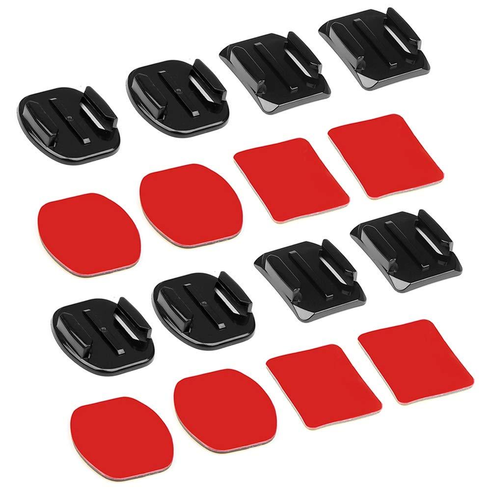 Color:Noir Yi Fjiujin,Base coud/ée et Autocollant Collant pour h/éros GoPro 7//6//5//4