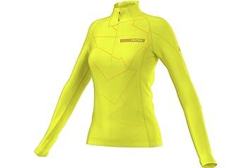 Adidas Performance Función Manga Larga Camiseta, otoño/Invierno, Mujer, Color Amarillo, tamaño 36: Amazon.es: Deportes y aire libre