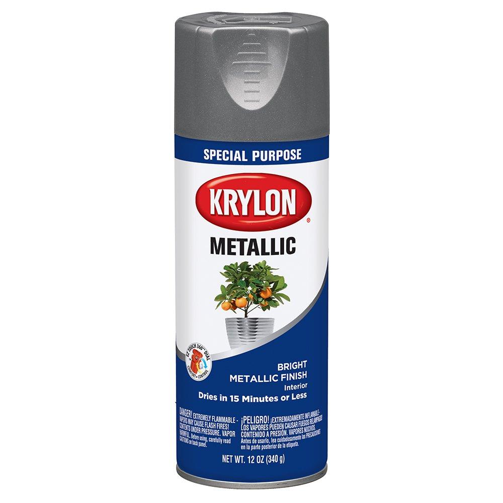 Krylon 1403-6 PK Dull Aluminum 11 Ounce Aerosol, (Case of 6) Metallic Paint