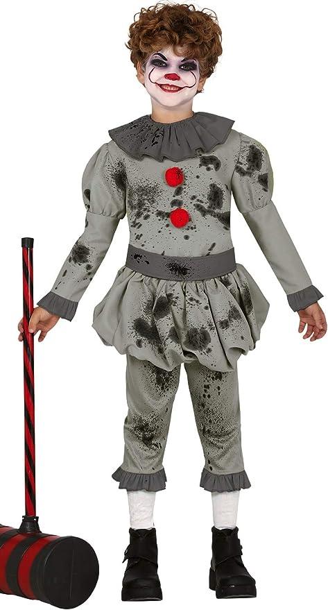 Fancy Me Disfraz de Payaso de Terror para niños de 3 a 12 años ...