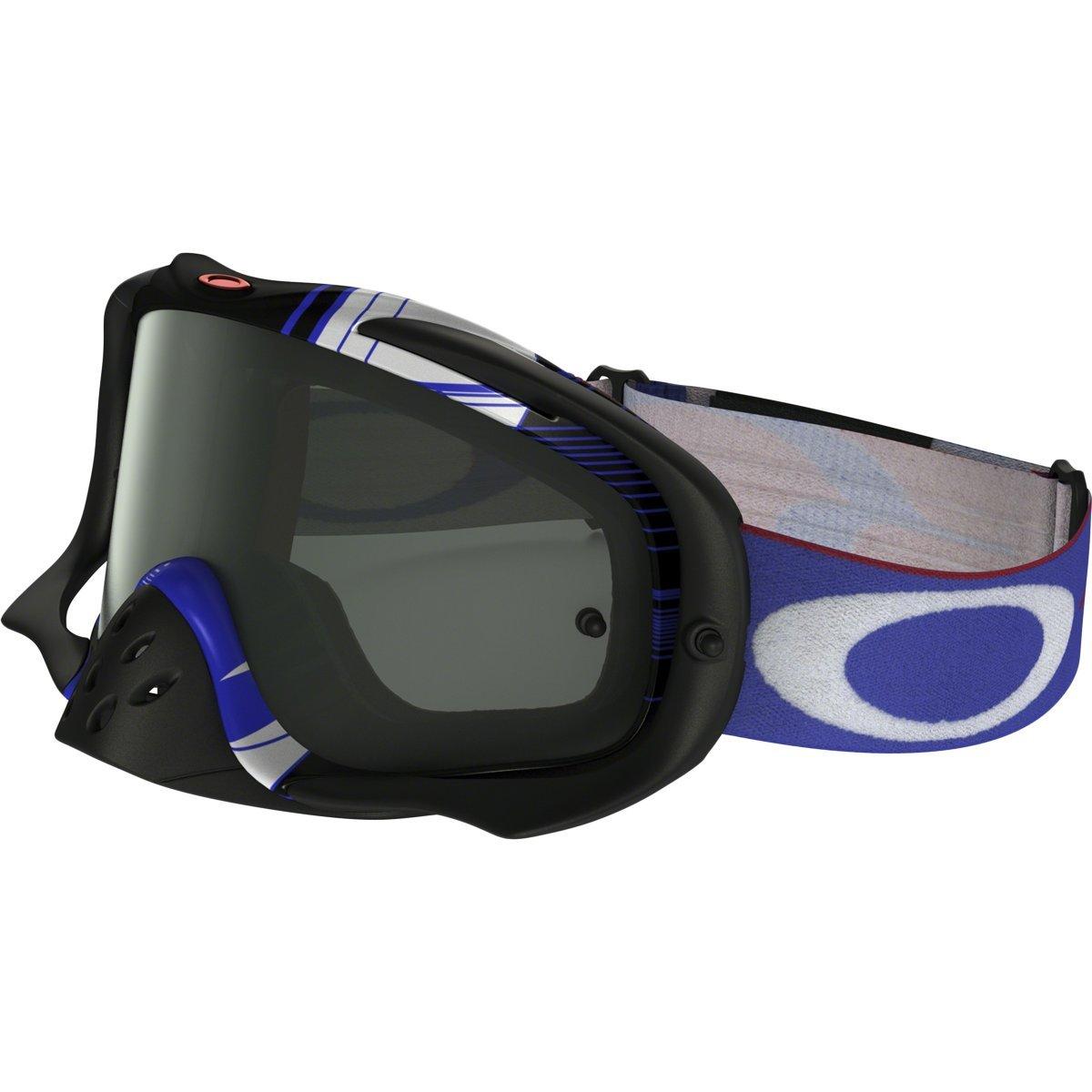 Oakley Crowbar MX Ryan Dungey Adult Off-Road Motorcycle Goggles Eyewear - Block Pass RWB/Dark Grey/One Size Fits All
