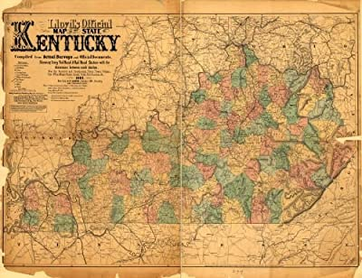1862 Map Lloyd's official map of the State of Kentucky - Size: 18x24 - Ready to Frame - Kentucky | K