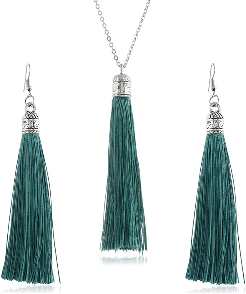 LZHLQ Long Tassel Necklace...