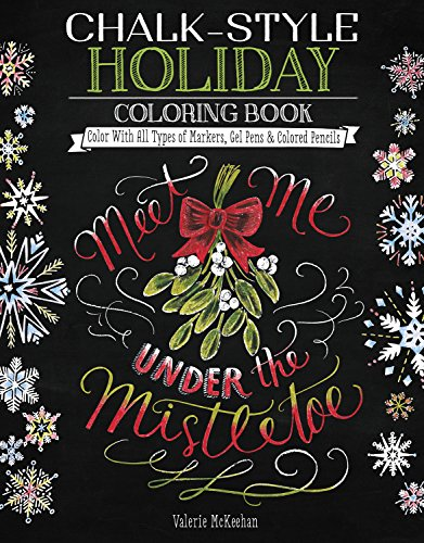 chalk style holiday coloring book color with all types of 読書