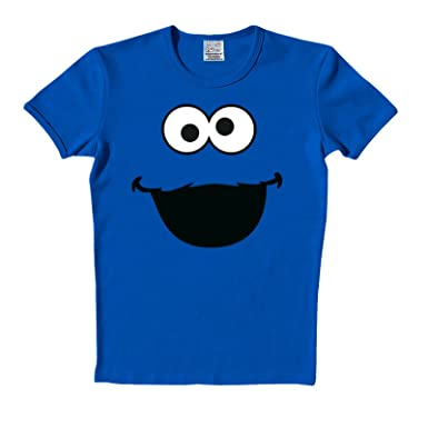 920441f657ab Sesamstrasse T-Shirt Cookie Monster Face Krümelmonster in Größe XXL ...