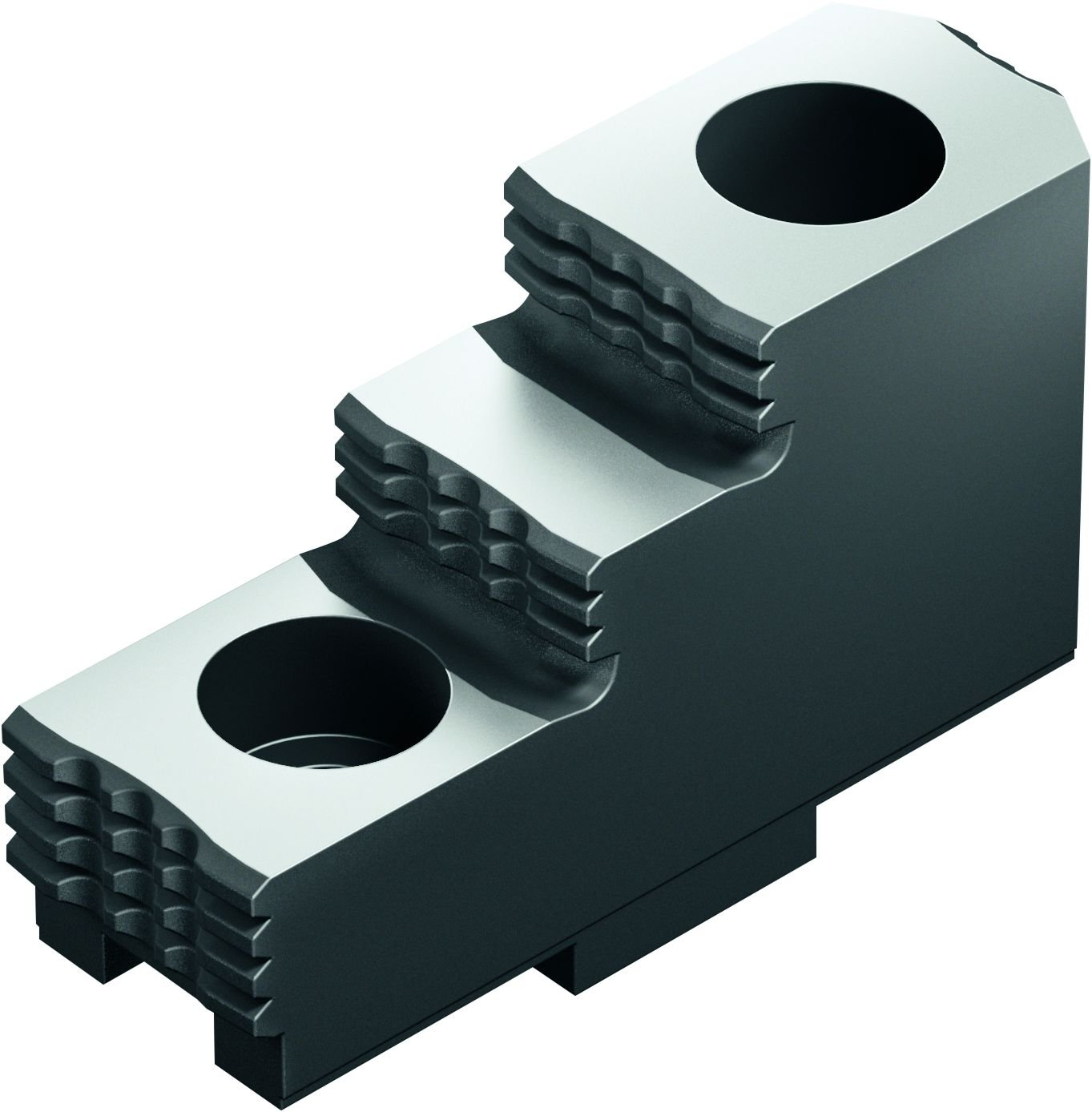 8 mm Groove Width 20 mm x 36.5 mm x 63 mm SCHUNK 0155100 Steel Hard Stepped Top Jaws Pack of 3