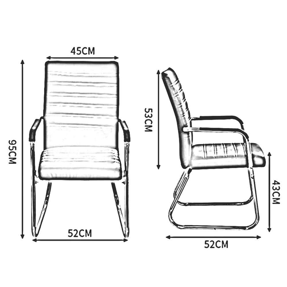 WYYY stolar kontorsstol student stol rosett form företagsstol PU-säte baksida stöd skrivbordsstol kontorsmaterial hållbar stark (färg: svart) BRUN