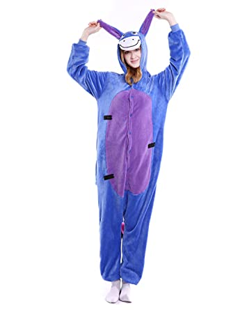 d9eaf2eeedf6 Amazon.com  INSFITY Cosplay Eeyore Onesie Unisex Halloween Costume Pyjamas   Clothing