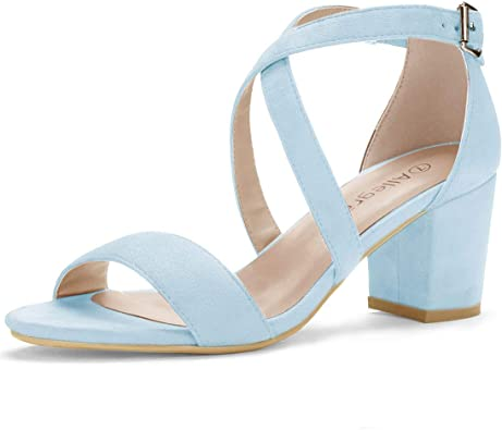 Womens Split Toe Patent Leather Strap Buckle Block Heels Sandals Ankle Shoes New