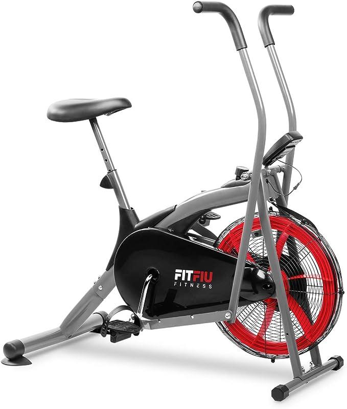 Fitfiu Fitness BELI-150 Bicicleta elíptica con Resistencia por Aire, sillín Regulable y Pantalla LCD multifunción, Máquina Fitness, Unisex Adulto, Negro, 93x20,5x66cm: Amazon.es: Deportes y aire libre