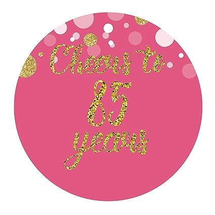Amazon.com: Rosa 85th cumpleaños o aniversario pegatinas de ...