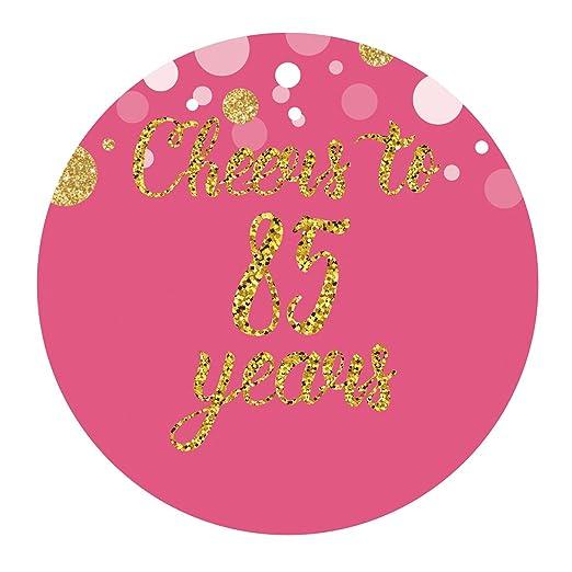 MAGJUCHE Pegatinas para cumpleaños o Aniversario, Color Rosa ...