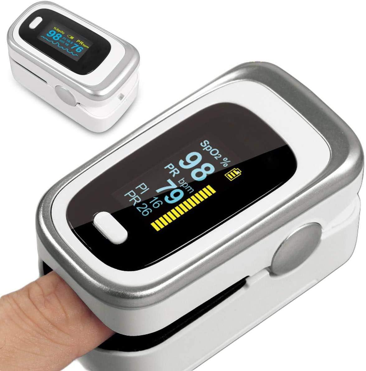 Pulsioxímetrode Dedo Oximeter Oxímetro de Dedo Pulsioximetría Profesional para Adultos y Niños Medidor Saturacion Oxigeno para Uso Doméstico
