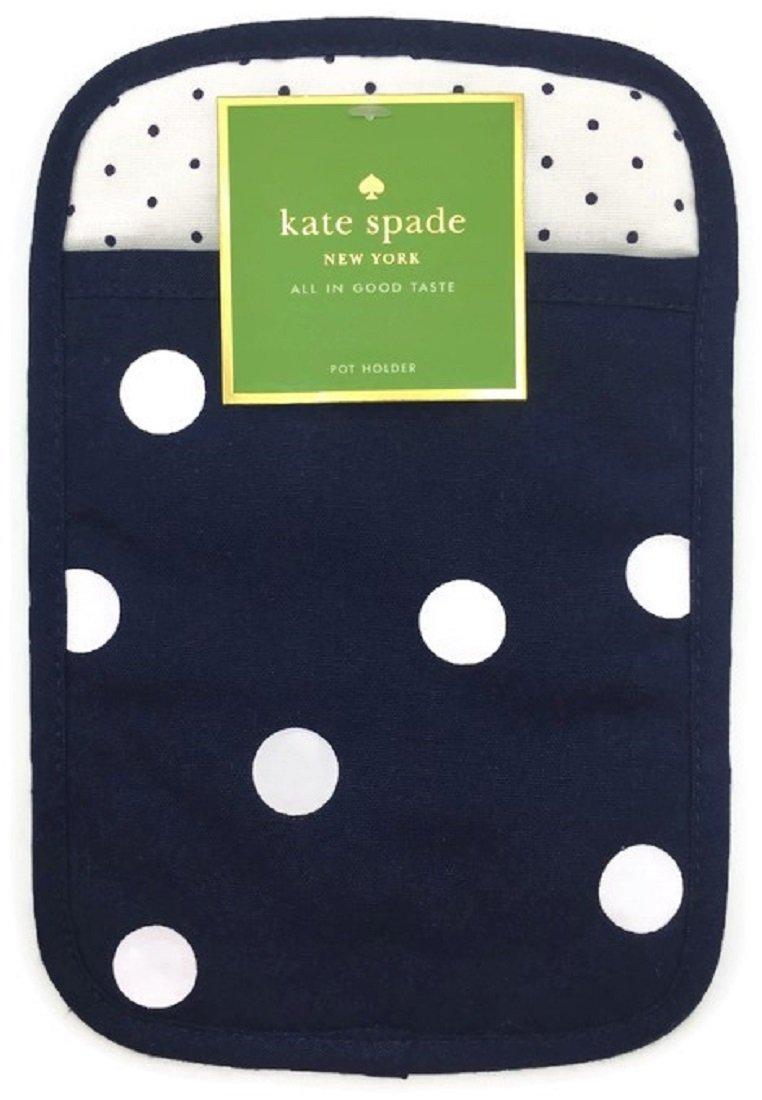 Kate Spade New York French Navy Polka Dot Pot Holder