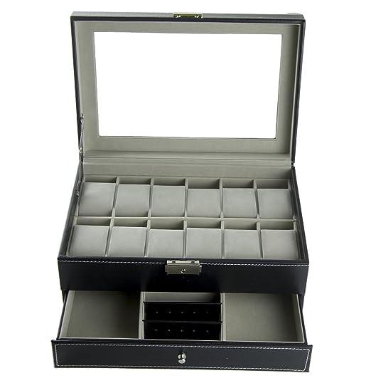 30 opinioni per Feibrand PU Scatola Porta Orologi Custodia per 12 Orologi / Bracciali