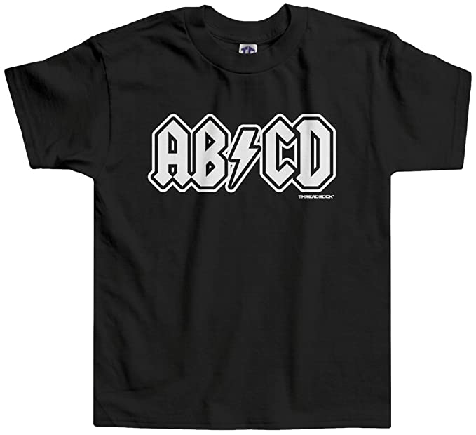 Amazon.com: threadrock Little Girls ABCD bebé T-Shirt: Clothing