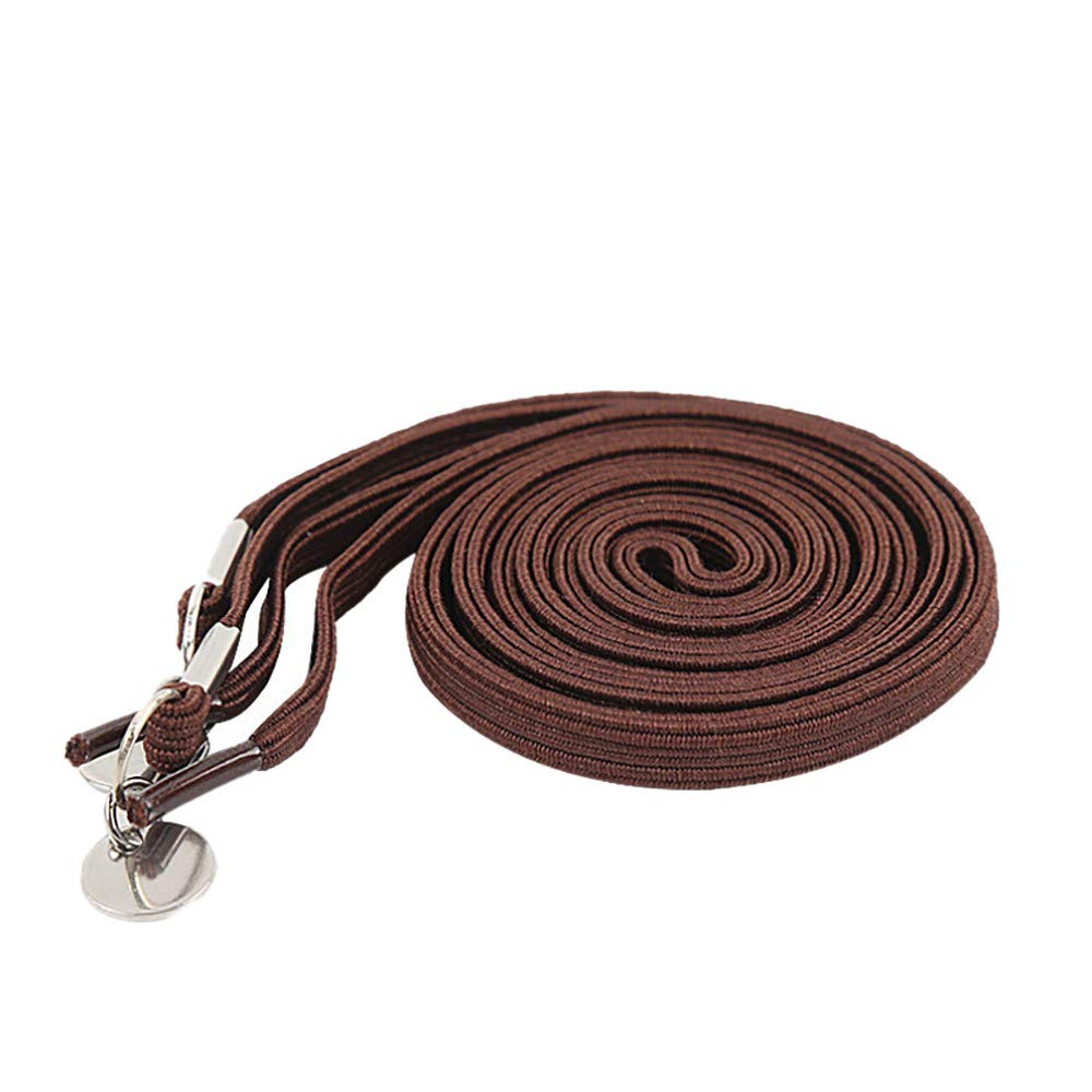 Euone Shoelaces Clearance, Pair of Perfect One Hand No Tie Laziness Shoelace Laces Elastic Convenient (Brown)
