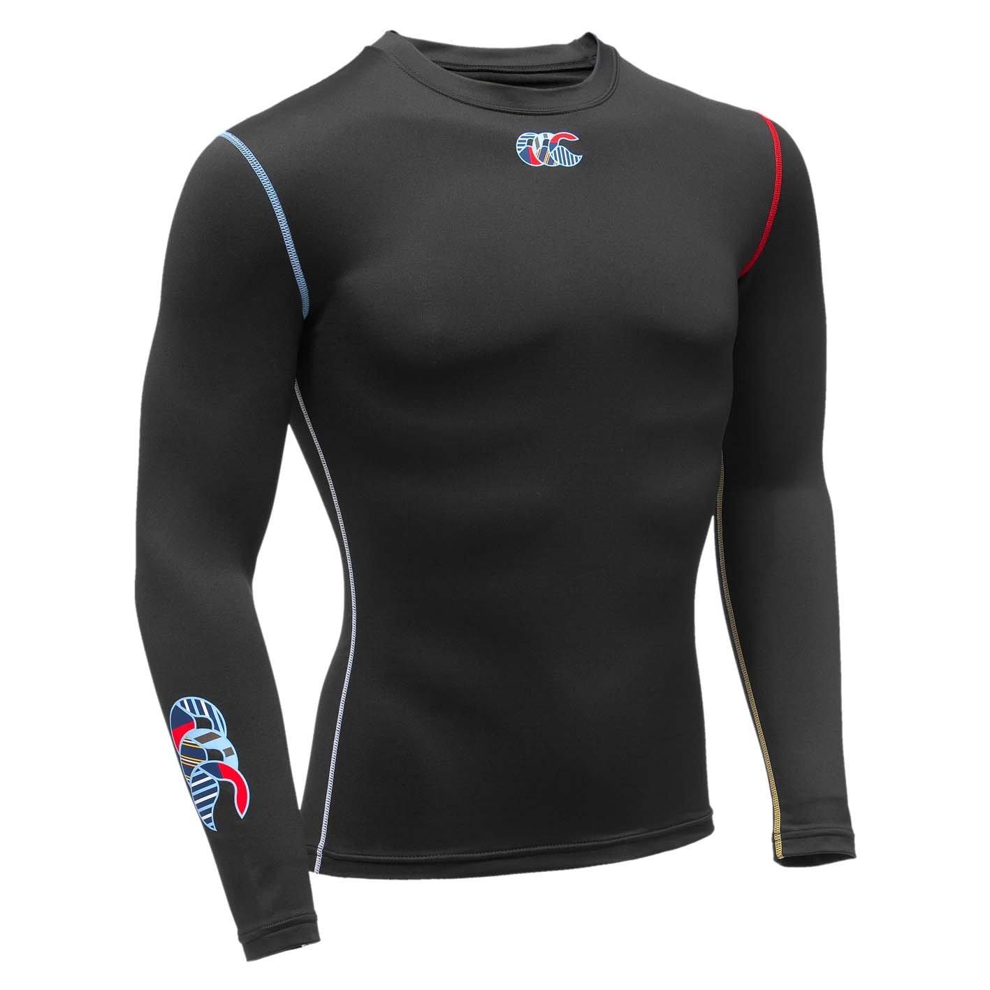 Canterbury of New Zealand Herren Long Sleeve Shirt Baselayer Plain Uglies Cold (wärmend)