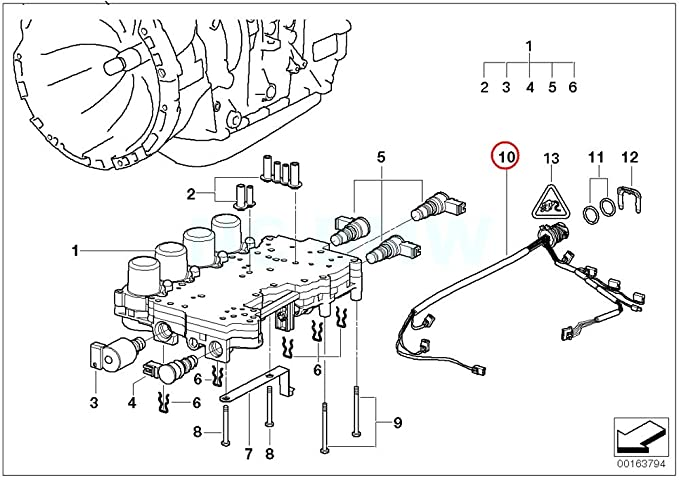 Amazon Com Bmw Genuine Wiring Harness With Temperature Sensor
