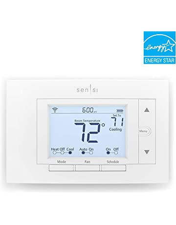 emerson sensi wi-fi smart thermostat for smart home, diy version, works with