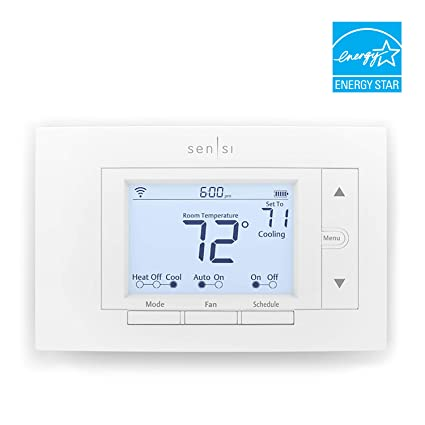 emerson sensi wi fi thermostat for smart home, diy version, worksemerson sensi wi fi thermostat for smart home, diy version, works with alexa, energy star certified amazon com