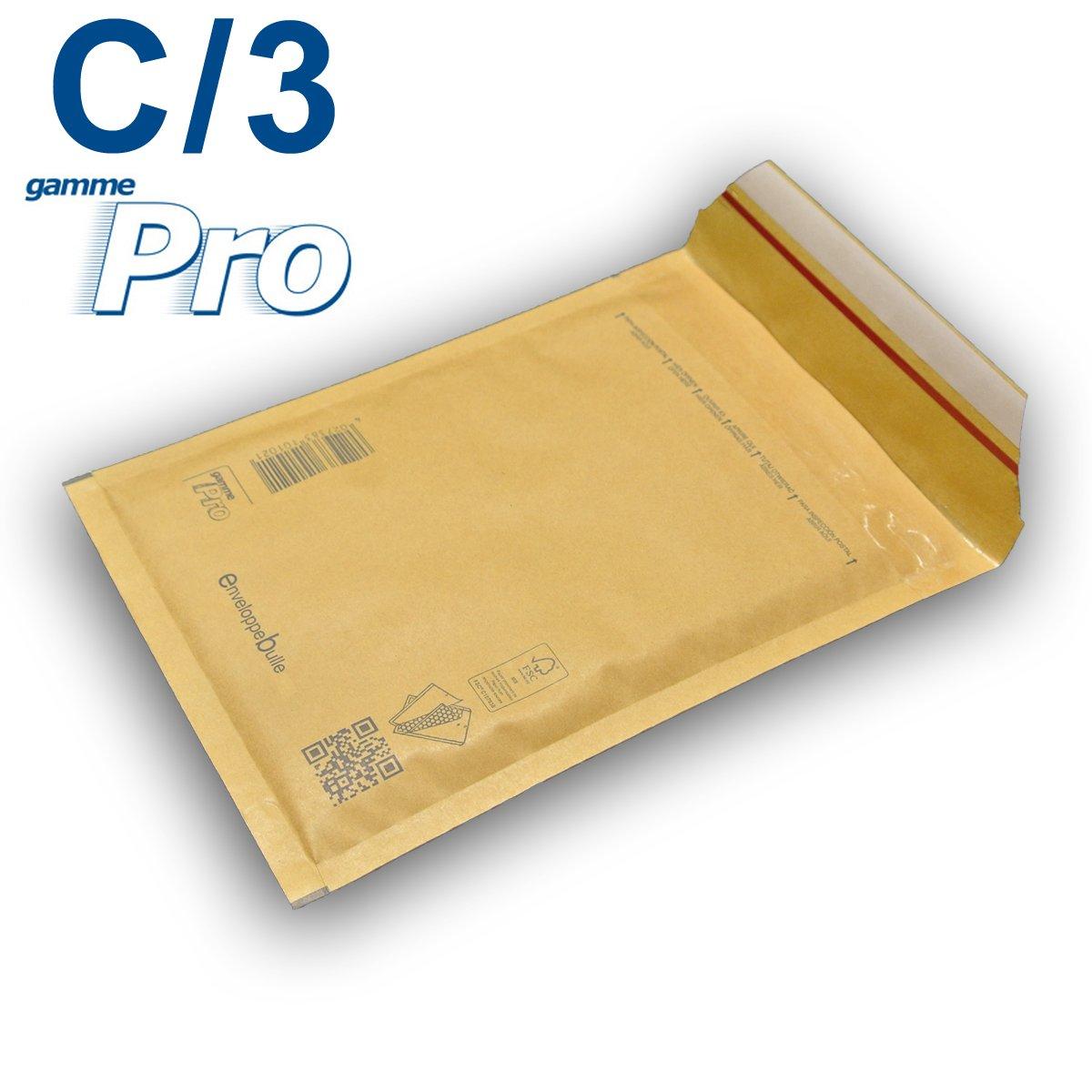 Lot de 100 enveloppes /à bulles *MARRON* gamme PRO C//3 format 140x215mm