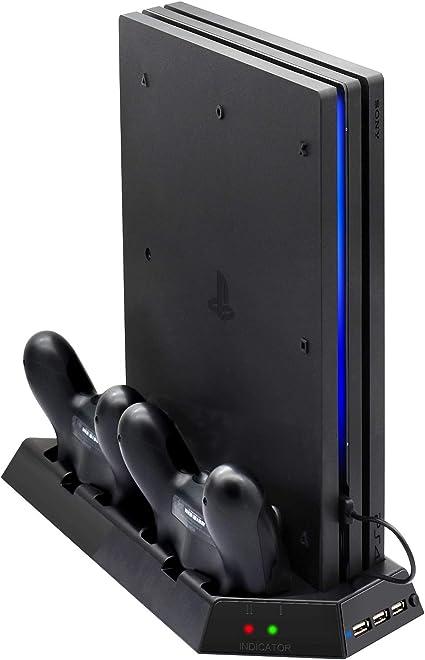 Amazon.com: Pro – Soporte vertical para PS4 con ventilador ...