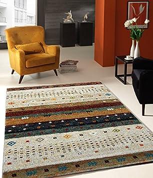 Teppich Designer Wohnzimmer Teppich Hochwertig Trend Vintage Beige