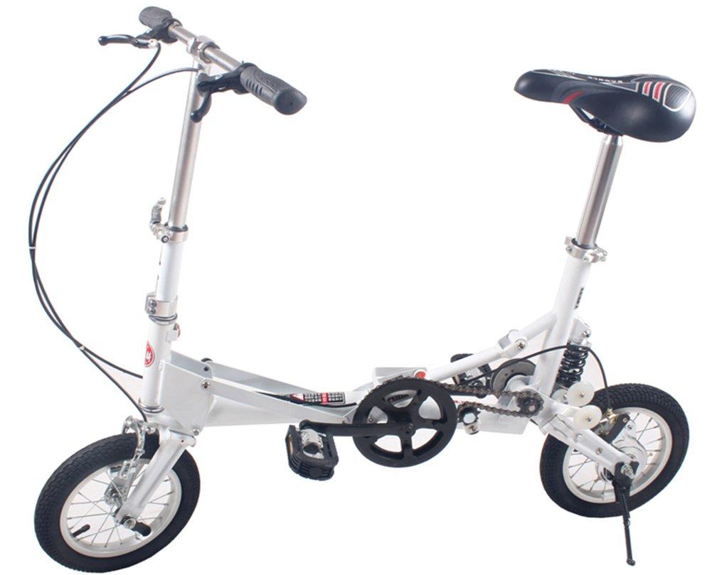 (デイリー スウィート)Daily Sweet  折りたたみ自転車 収納バッグ付き 12インチ 小型 小径 街乗り 通勤 通学等に便利 B074H5SPXC白