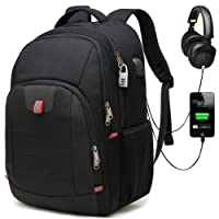 Laptop Backpack,Extra Large Anti-Theft Business Travel Laptop Backpack Bag with USB Charging Port,Water Resistant College School Computer Rucksack Bag for Men/Women for 17 Inch Laptop and Notebook