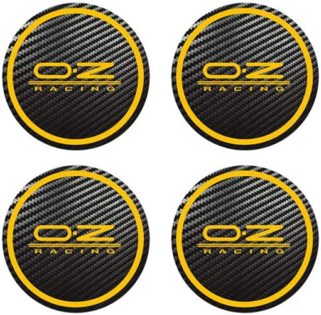 4pcs for OZ Racing Octavia A5 Fabia Superb Car Styling Badge Logo Carbon Center Caps Alloy Wheel Hub Stickers Red 50 Mm