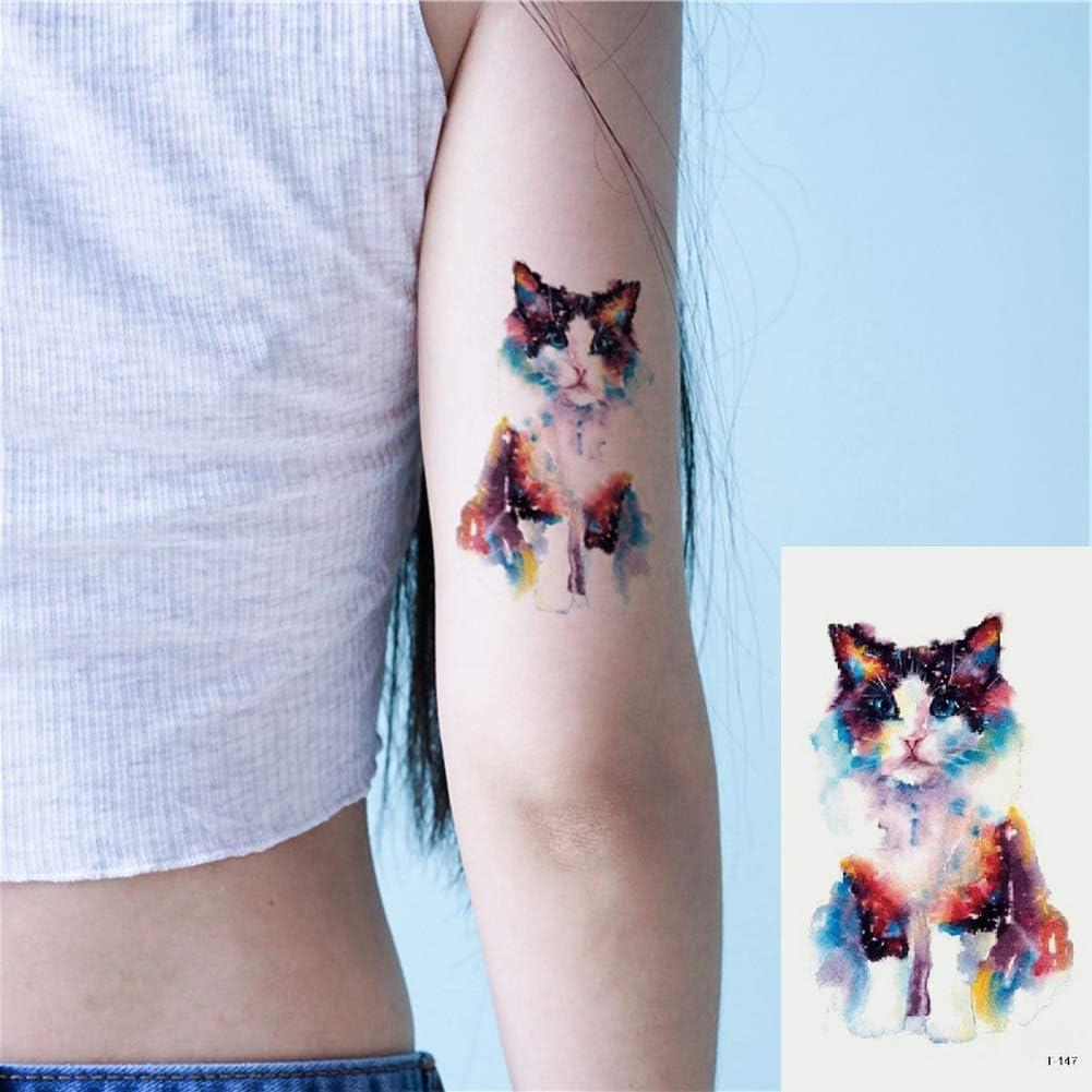 Oottati 2 Hojas Pequeño Lindo Tatuaje Temporal Tattoo Gato ...