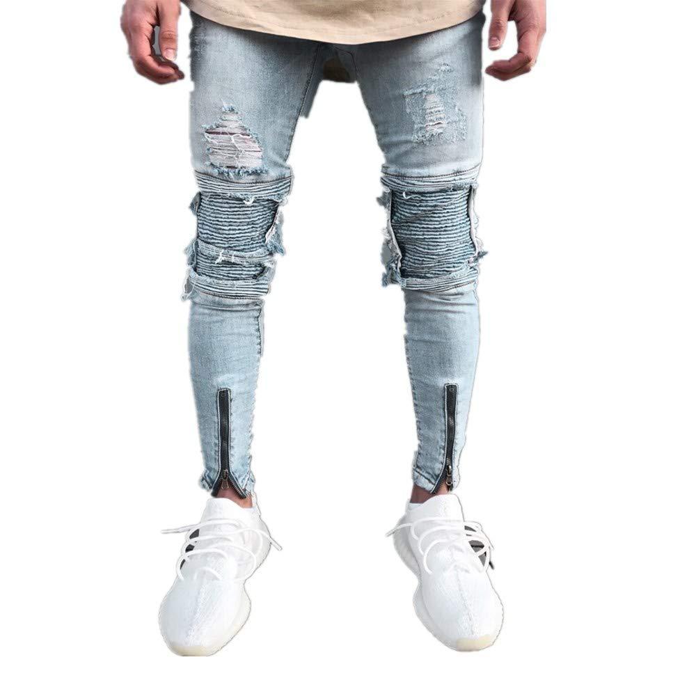 SOLELING Jeans Slim Fit Herren Denim Usato Look Slim Fit Slim Fit Jeans Vintage Jeans Denim Hiphop Streetwear Hosen