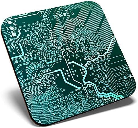 Carte m/ère informatique Gaming Tech Sous-verres brillants de qualit/é Protection de table pour tout type de table #16893 Excellent dessous de verre carr/é