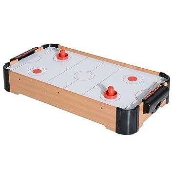 HOMCOM® Mini Airhockey Mesa Aire Hockey Hockey Hockey de Mesa con ...
