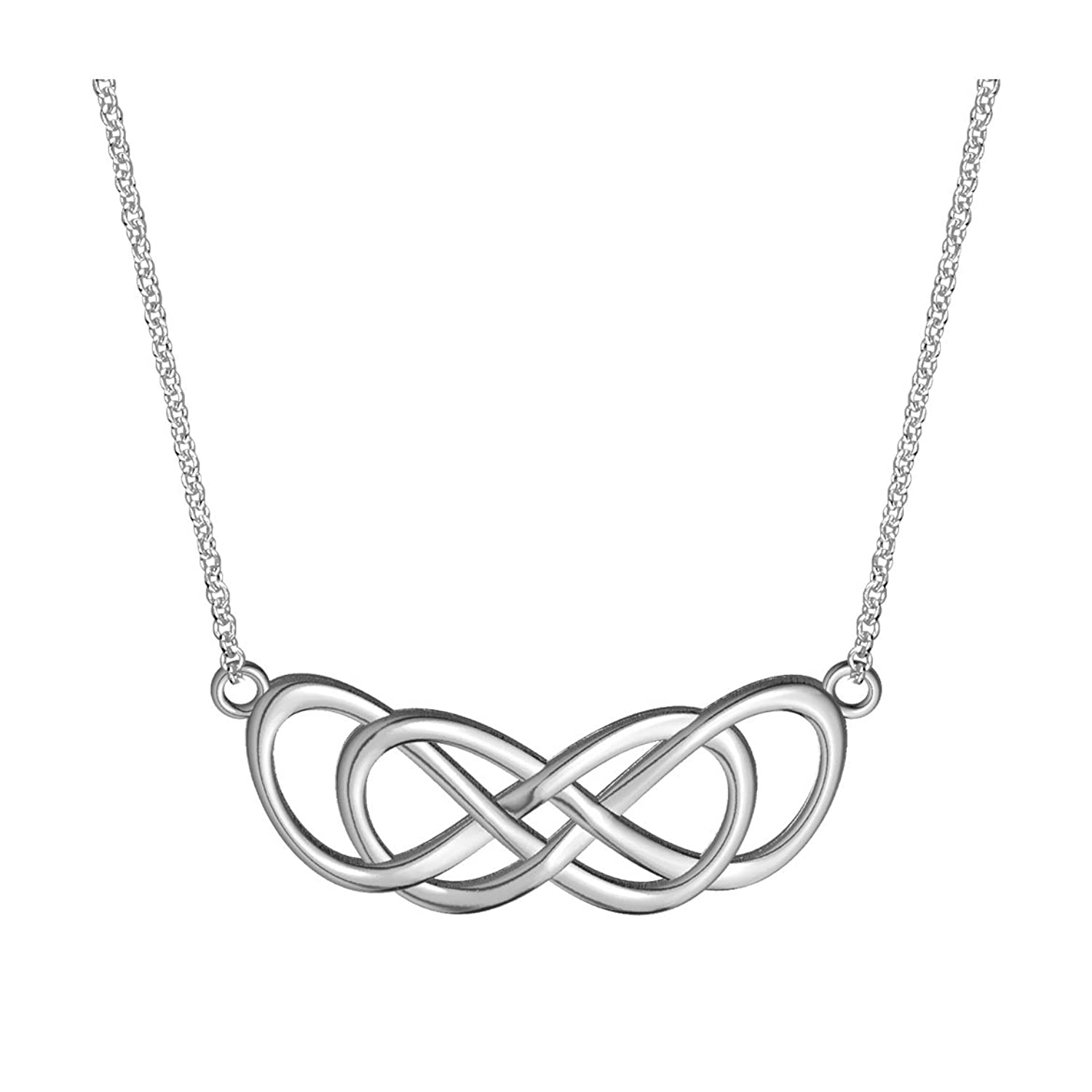 Large Curved Double Infinity Symbol Charm And Chain Lovers Charm