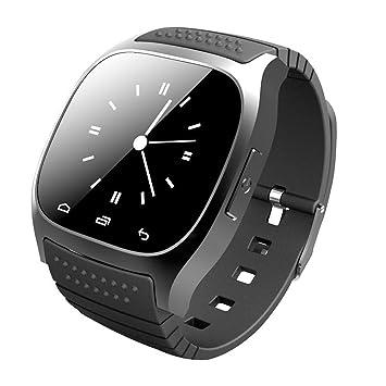 UQ Smartwatch M26 Montre connectée Bluetooth 3.0 Pour Smartphone Android IOS Bracelet silicone Noir