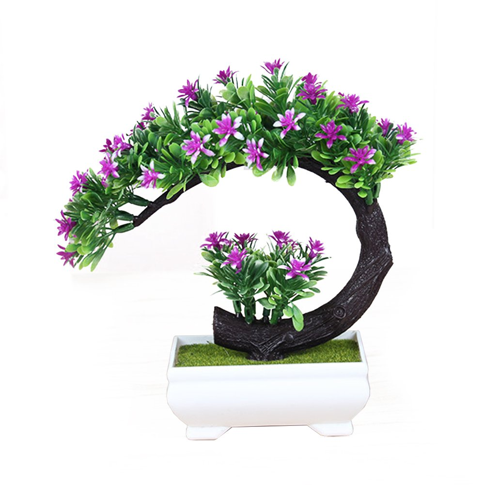 Lanlan-Artificial-Flower-Creative-Artificial-Flower-Bonsai-Simulation-Fake-Plants-for-Home-Office-Decoration-Red-Lotus