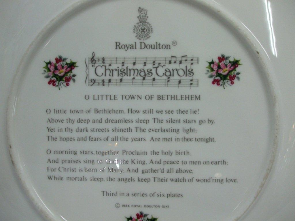 royal doulton christmas plate 1985 o little town bethlehem bnib