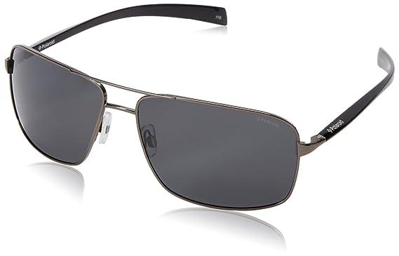 Polaroid Herren Sonnenbrille Pld 2023/S Y2 Cvl, Schwarz (Dkruth Black/Grey Pz), 64